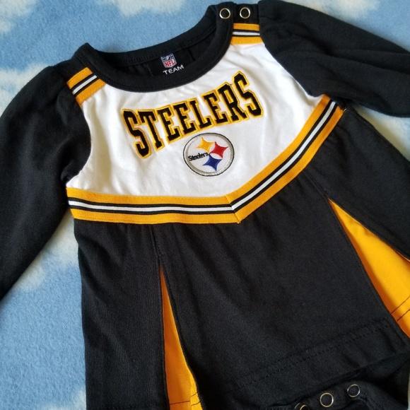 NFL Steelers Baby Girl Cheerleader Romper 3-6m. M 5b79d6c9951996bfe69450e0 9a60354dc